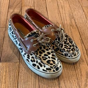 Sperry Top-Sider slip-on 7 leopard print